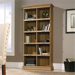 Sauder Barrister Lane Tall Bookcase in Scribed Oak Finish