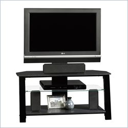 Sauder Beginnings TV Stand with Mount in Black