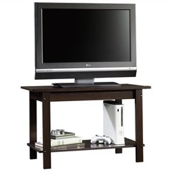Sauder Beginnings TV Stand in Cinnamon Cherry Finish