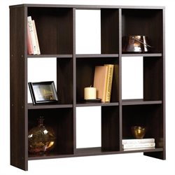 Sauder Beginnings 9 Cubby Storage Organizer in Cinnamon Cherry Finish