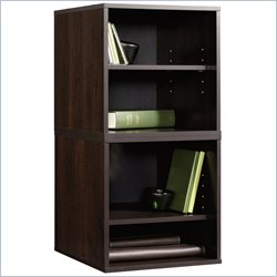 Sauder Beginnings Transitional 2 Pack Cube in Cinnamon Cherry