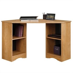 Sauder Beginnings Corner Desk in Highland Oak Finish