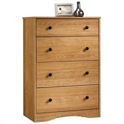 Sauder Beginnings 4 Drawer Chest in Highland Oak Finish