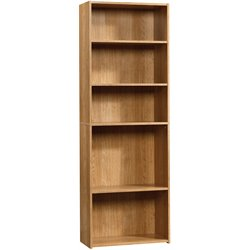 Sauder Beginnings 5-Shelf Bookcase in Highland Oak