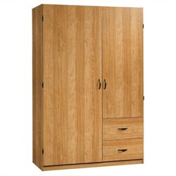 Sauder Beginnings Wardrobe Armoire in Highland Oak