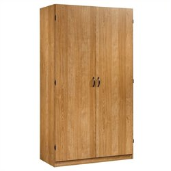 Sauder Beginnings Wardrobe in Highland Oak Finish