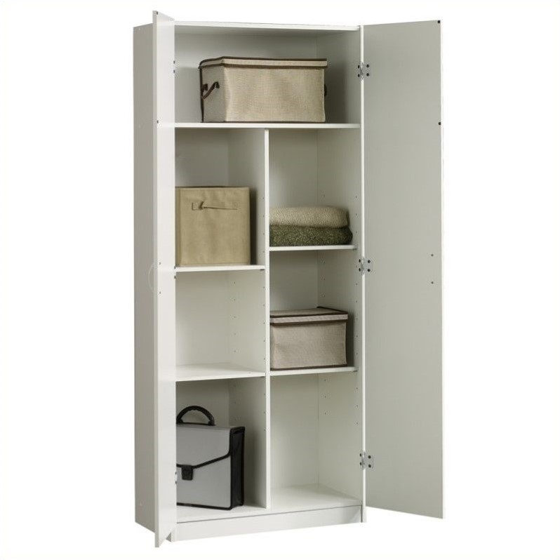 Sauder Beginnings Storage Cabinet in Soft White 413678 : 437591 1 L from www.cymax.com size 798 x 798 jpeg 49kB