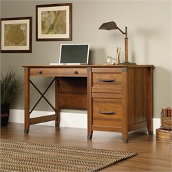 Sauder Carson Forge Desk in Washington Cherry