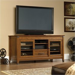 Sauder Carson Forge TV Stand in Washington Cherry Finish