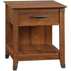 Sauder Carson Forge Smartcenter Side Table in Washington Cherry
