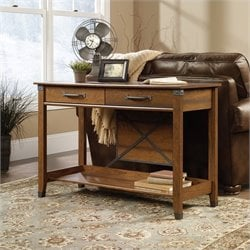 Sauder Carson Forge Sofa Table in Washington Cherry