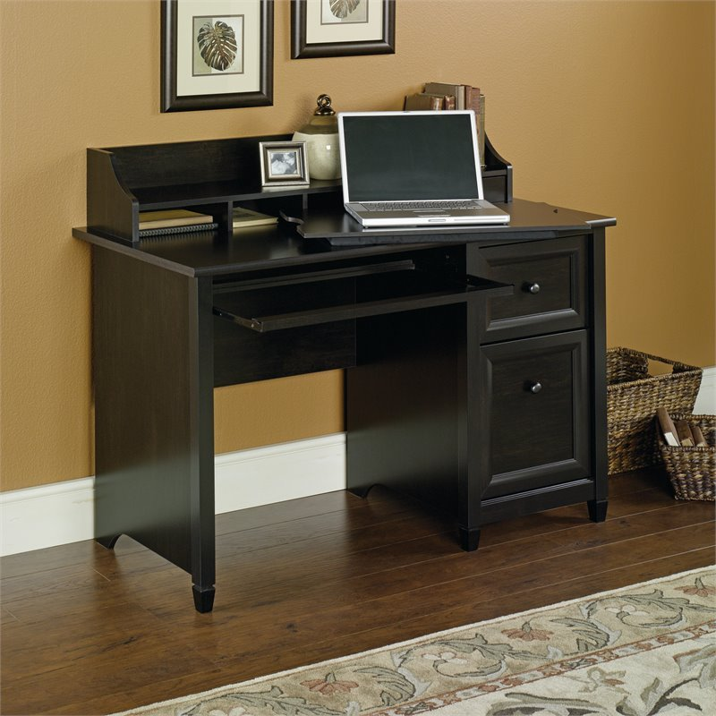 Sauder Edge Water Computer Desk in Estate Black