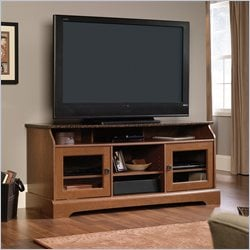Sauder Graham Hill TV Stand in Autumn Maple