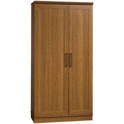Sauder Homeplus Storage Cabinet in Sienna Oak