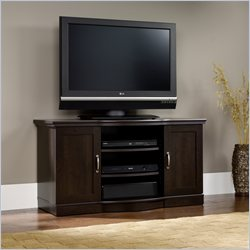 Sauder Select TV Stand Credenza in Cinnamon Cherry