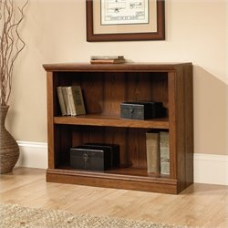 Sauder Select 2 Shelf Bookcase in Washington Cherry