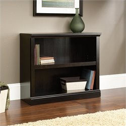 Sauder Select 2 Shelf Bookcase in Estate Black