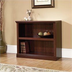 Sauder Select 2 Shelf Bookcase in Select Cherry