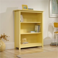 Sauder Original Cottage 3 Shelf Bookcase in Melon Yellow