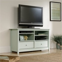 Sauder Original Cottage TV Stand in Rainwater
