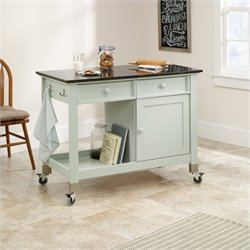 Sauder Original Cottage Mobile Kitchen Island in Rainwater