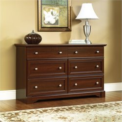 Sauder Palladia Six Drawer Dresser in Select Cherry Finish