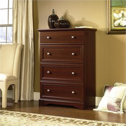 Sauder Palladia 4 Drawer Chest in Cherry
