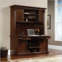 Sauder Palladia Credenza and Hutch in Select Cherry