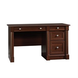 Sauder Palladia Computer Desk with Keyboard Tray in Cherry