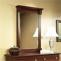 Sauder Palladia Mirror in Cherry