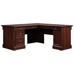Sauder Palladia L Shaped Computer Desk in Cherry