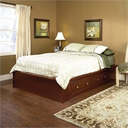 Sauder Palladia Queen Platform Bed in Cherry
