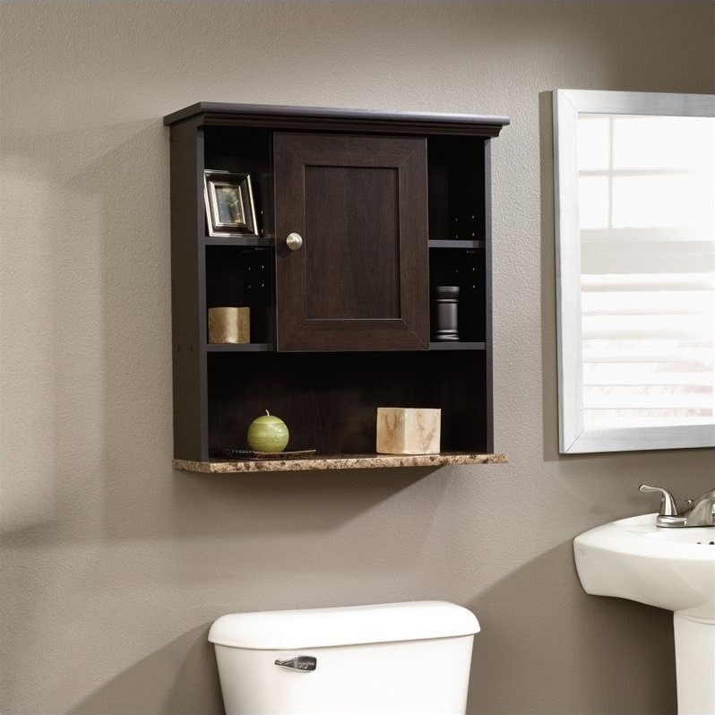Wall Cabinet In Cinnamon Cherry