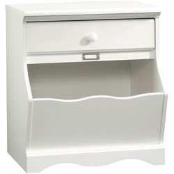 Sauder Pogo Night Stand in Soft White