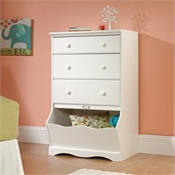Sauder Pogo 3 Drawer Chest in Soft White Finish