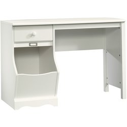 Sauder Pogo Desk in Soft White Finish