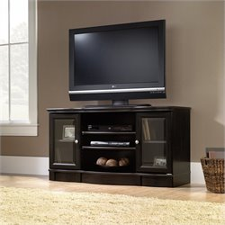 Sauder Regent Place Panel TV Stand in Estate Black Finish