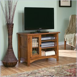 Sauder Rose Valley Entertainment Stand in Abbey Oak