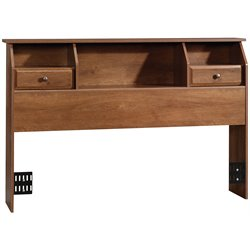 Sauder Shoal Creek Full or Queen Bookcase Headboard in Oak