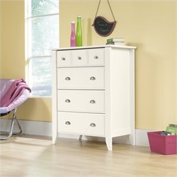 Sauder Shoal Creek 4 Drawer Chest in Soft White Finish