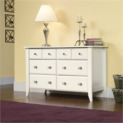 Sauder Shoal Creek Dresser in Soft White Finish