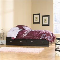 Sauder Shoal Creek Mates Bed in Jamocha Wood