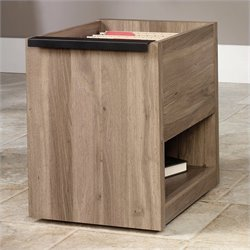 Sauder Transit File Cart in Salt Oak