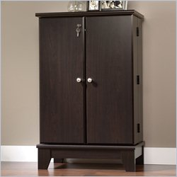 Sauder Camarin Multimedia Storage Cabinet in Jamocha Wood
