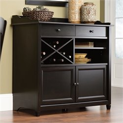 Sauder Edge Water Sideboard in Estate Black