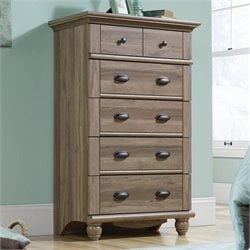 Sauder Harbor View Chest in Salt Oak