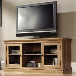 Sauder Barrister Lane Entertainment Credenza in Scribed Oak