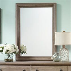 Sauder Harbor View Mirror in Salt Oak