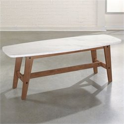 Sauder Soft Modern Coffee Table in Walnut