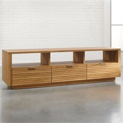 Sauder Soft Modern Entertainment Credenza in Pale Oak